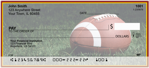 Burgundy & Gold Football Team Personal Checks | SPT-05