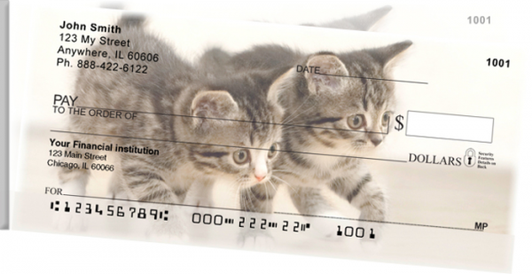 Cute Kittens Side Tear Personal Checks | STANI-06