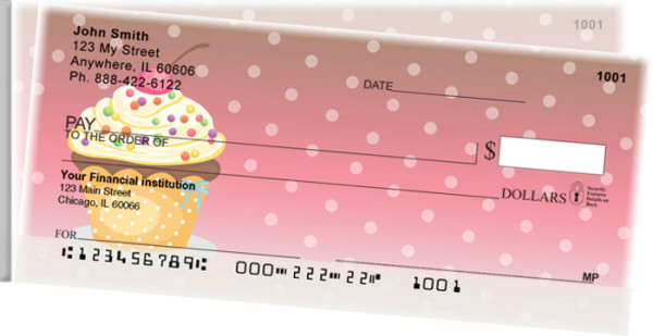 Cupcakes Side Tear Personal Checks | STFOD-53