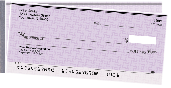 Purple Safety Side Tear Personal Checks | STVAL-27
