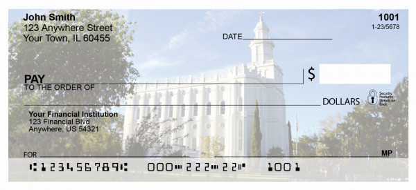 St George Temple Personal Checks | TEM-16