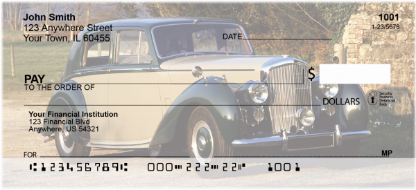 Old Time Cars Personal Checks | TRA-44