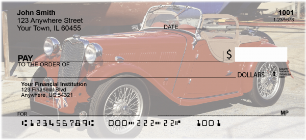 Old Time Convertables Personal Checks | TRA-45