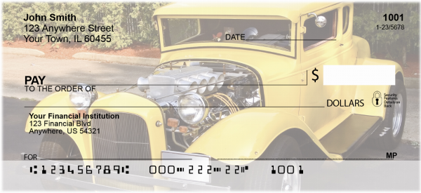 Smokin' Hot Rods Personal Checks | TRA-46