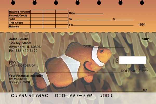 Tropical Fish Top Stub Personal Checks | TSANI-01