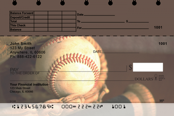 Baseball Top Stub Personal Checks | TSSPO-04