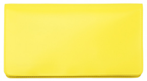 Lemon Yellow Vinyl Checkbook Cover | VCB-YEL01