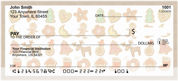 Gingerbread Cookies Personal Checks | XMS-17