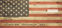 Antique US Flag Personal Checks